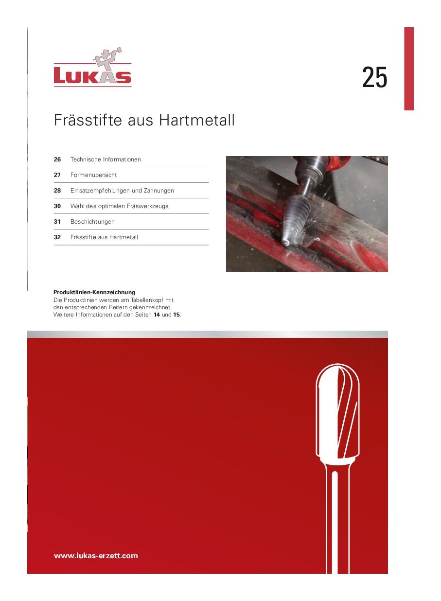 Lukas hardmetall- HSS-filer